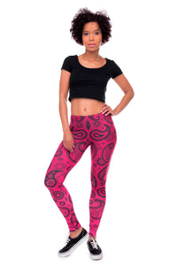 Fashionable Print High Waist Slim Fit Leggings