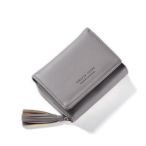 Tassel Pendant Women's Wallets With Zipper Coin Holder