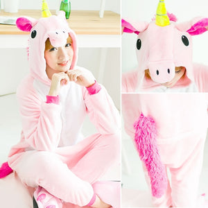 Pink Unicorn Flannel Pajama Set