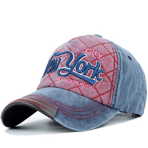 New York Checkered Baseball Hat