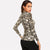 Snakeskin Print Skinny Long Sleeve Women Top