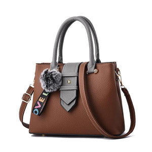 Fashion Designer Leather Patchwork Women's Top-Handle Bag