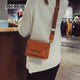 Solid Color Leather Shoulder Women's Bag