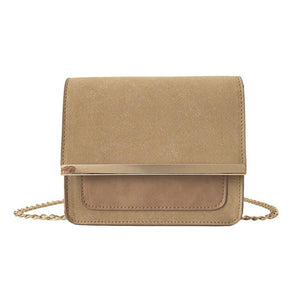 Metal Chain Strap Crossbody Women's Bag