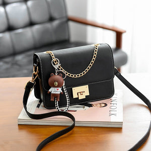 Leather Flap Party Women's Shoulder Bag