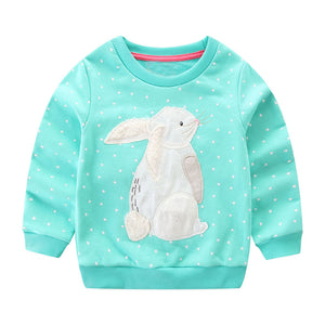 Animal Applique Sweatshirt for Toddler Girls