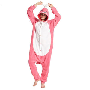 Pink Whale Adult Onesie Pajama Animal Jumpsuit