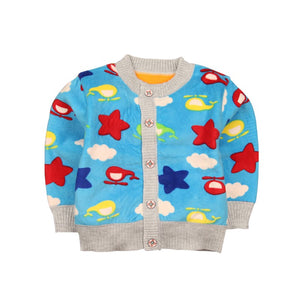 Knitted Cardigan Sweater for Kids Boys and Girls