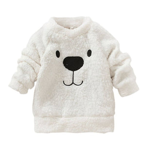 Lovely Bear Furry and Thick Sweater for Baby Boys and Girls