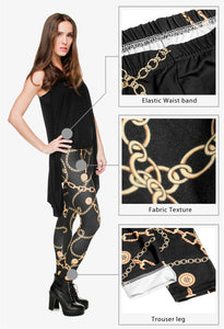 Gold Chains Sexy Slim Fit Leggings