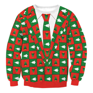 Ugly X-mas Sweater Red & Green