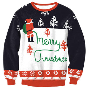 Ugly X-mas Sweater Black & Red