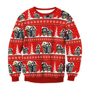 Ugly X-mas Sweater Red House