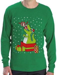 Ugly X-mas Sweater T-rex