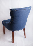 Indigo Blue Studded Large Chair