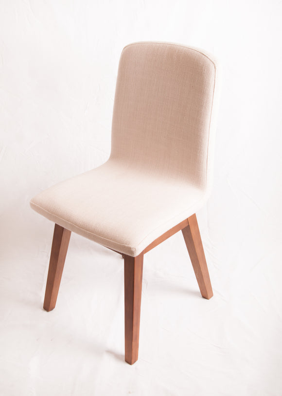 Cream Studded Small Chair