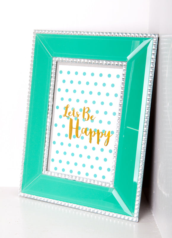 Let's Be Happy Picture Frame