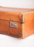 Vintage Leather Carmel Color Suitcase
