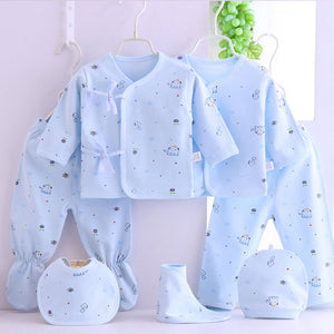6 Piece Cotton Printed Clothing Gift Set - 0-3 Months
