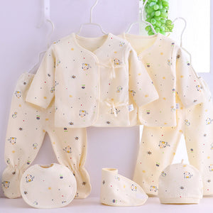 6 Piece Cotton Printed Clothing Gift Set - 0-3 Months - BabySpace Shop