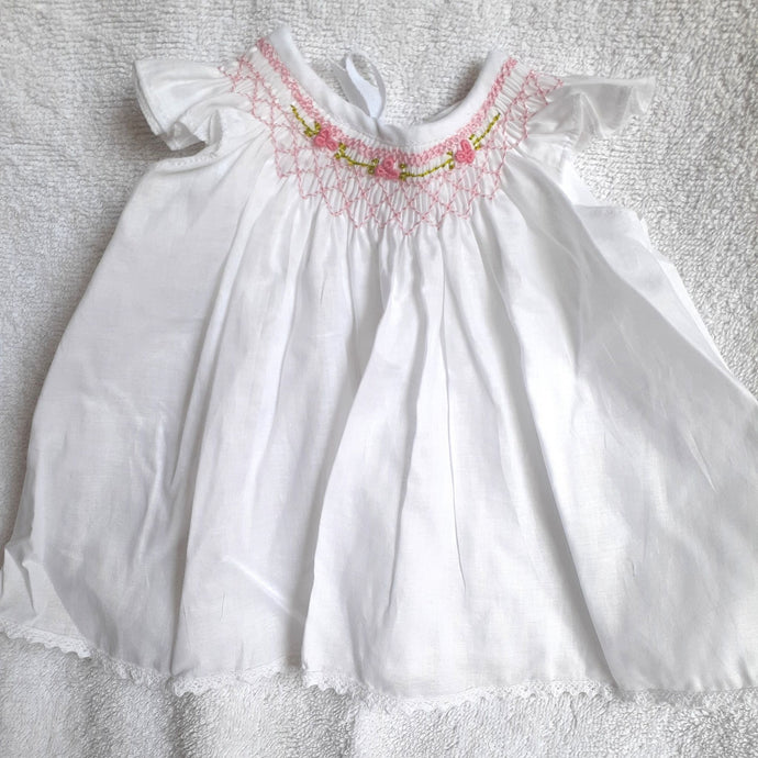 Handmade Bishop Smock Newborn Dress - 0 to 2 months