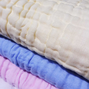 New - 6 Layered Coloured Cotton Gauze Baby Towel/Blankets - BabySpace Shop