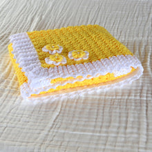 Load image into Gallery viewer, Handmade Crochet Baby Blanket  - 80 x 75cm