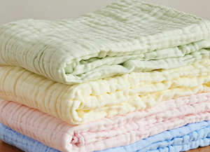 6 Layered Coloured Cotton Gauze Baby Towel/Blankets - BabySpace Shop