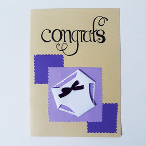 Congrats Handmade Card Collection - BabySpace Shop