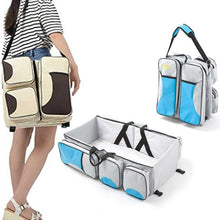 Load image into Gallery viewer, 3 in 1  Multi-function Baby Diaper Bag with Changing Bed - BabySpace Shop