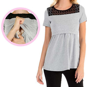 Large Size Casual T- Shirt Style Nursing/Feeding Top - BabySpace Shop