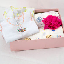 Load image into Gallery viewer, Welcome Baby Small Pink Hamper - BabySpace Shop