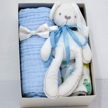 Load image into Gallery viewer, Welcome Baby Hamper - Simple Blue - BabySpace Shop