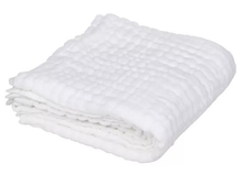 Load image into Gallery viewer, 5 Layered White Cotton Gauze Baby Towel/Blanket - BabySpace Shop