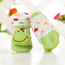 Load image into Gallery viewer, Anti Slip 3D Animal Head Baby Socks with Rubber Sole - BabySpace Shop