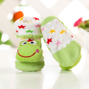 Anti Slip 3D Animal Head Baby Socks with Rubber Sole - BabySpace Shop