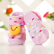 Load image into Gallery viewer, Anti Slip 3D Animal Head Baby Socks with Rubber Sole