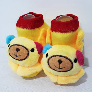 Anti Slip 3D Animal Head Baby Socks with Rubber Sole II