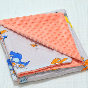 Warm baby blanket with Fleece and Cotton