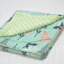 Load image into Gallery viewer, Warm baby blanket with Fleece and Cotton