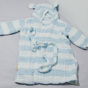 Hooded 6-layer Cotton Gauze Bath Robe for Toddler - BabySpace Shop
