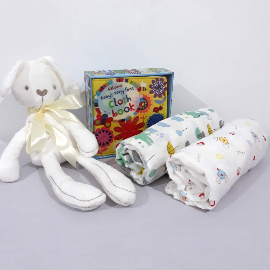 Bunny, Book and Blankets - BabySpace Shop