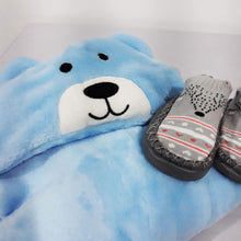 Load image into Gallery viewer, Animal Hooded Blanket and Sock Shoes - BabySpace Shop