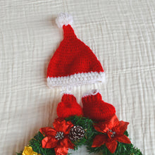 Load image into Gallery viewer, Crochet Baby Hat and Socks Set - Christmas Collection