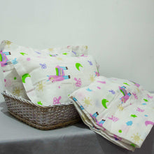 Load image into Gallery viewer, Baby Cot Sheet with 2 Matching Pillow Cases - BabySpace Shop
