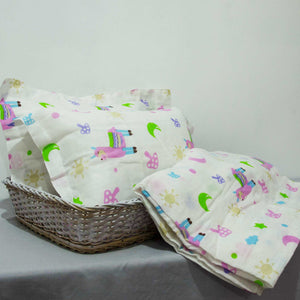Baby Cot Sheet with 2 Matching Pillow Cases - BabySpace Shop