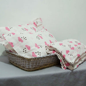 Baby Cot Sheet with 2 Matching Pillow Cases