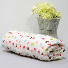 Load image into Gallery viewer, New Arrival - 6 Layered Printed Cotton Gauze Baby Blanket/Towel - BabySpace Shop