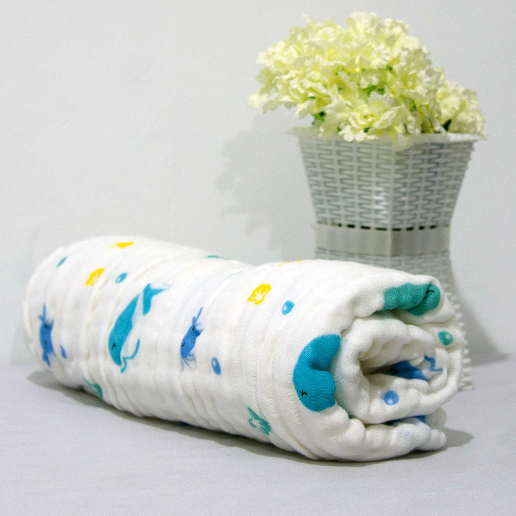 New Arrival - 6 Layered Printed Cotton Gauze Baby Blanket/Towel