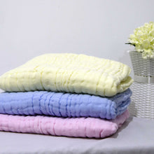 Load image into Gallery viewer, New - 6 Layered Coloured Cotton Gauze Baby Towel/Blankets - BabySpace Shop